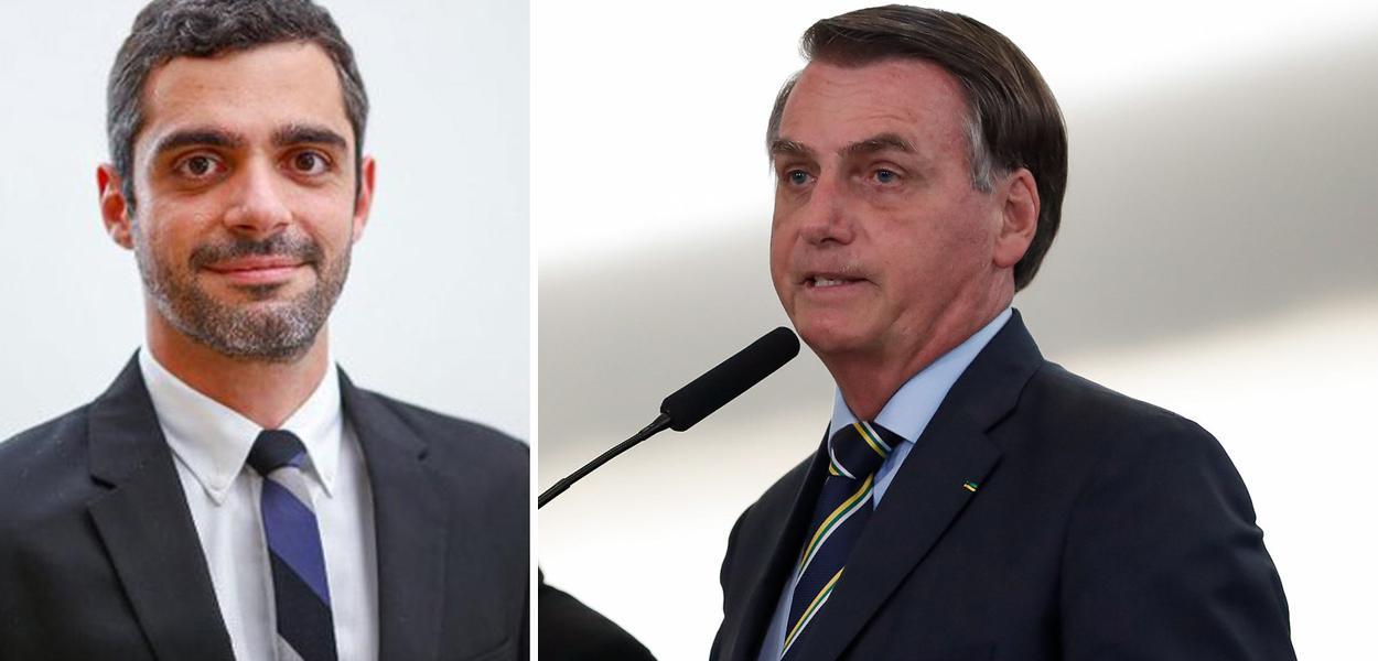 Bruno Boghossian e Jair Bolsonaro