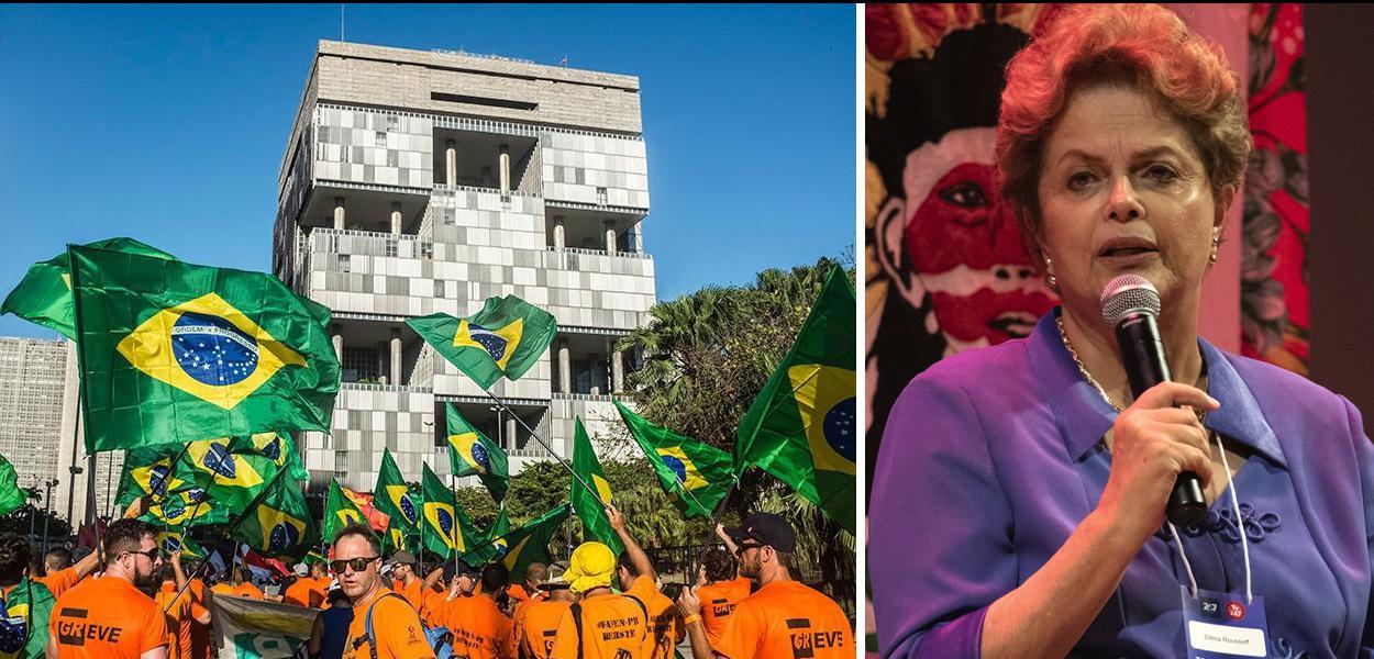 Dilma apoia greve dos petroleiros.
