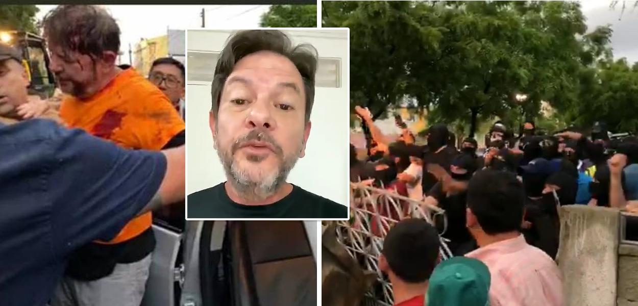 Cid Gomes baleado por PMs amotinados em Sobral (CE)