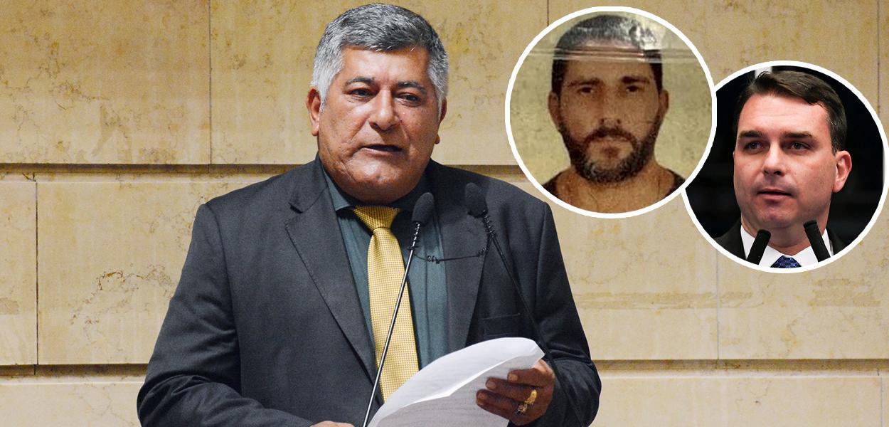 Ítalo Ciba, Adriano Magalhães da Nóbrega e Flávio Bolsnaro