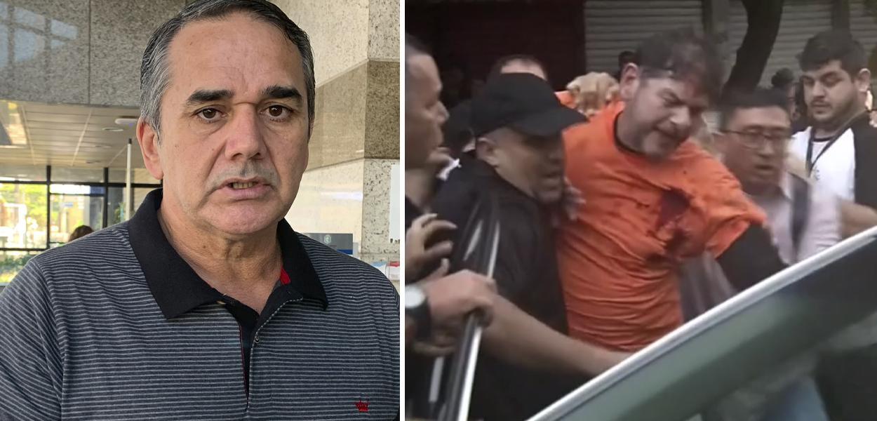 Cabo Sabino e Cid Gomes baleado