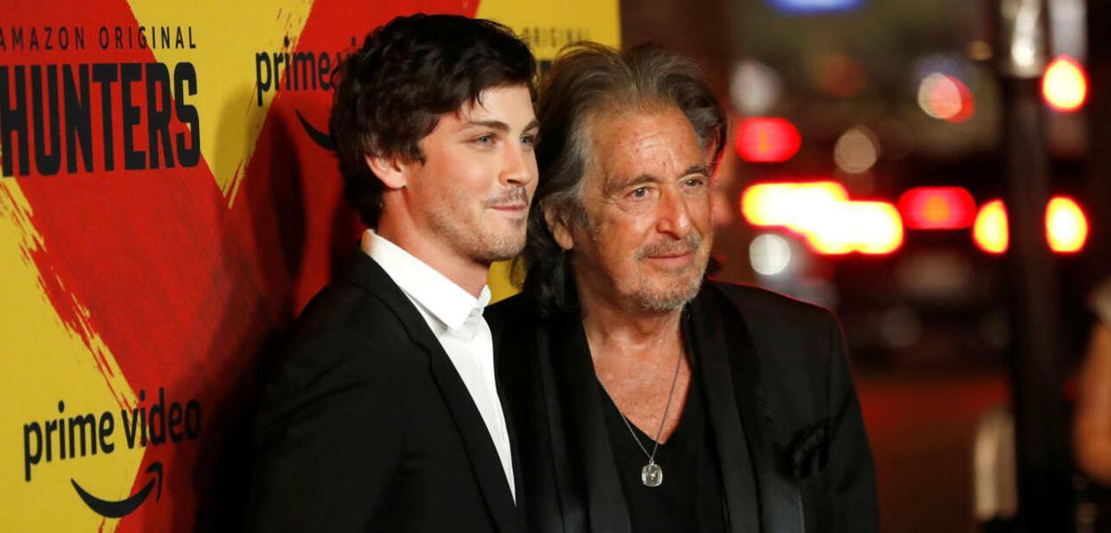 Al Pacino e Logan Lerman na pré-estreia de Hunters