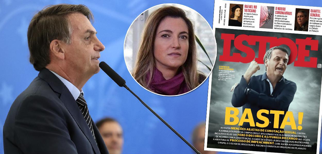 Bolsonaro, Patrícia Campos Mello e capa da Istoé