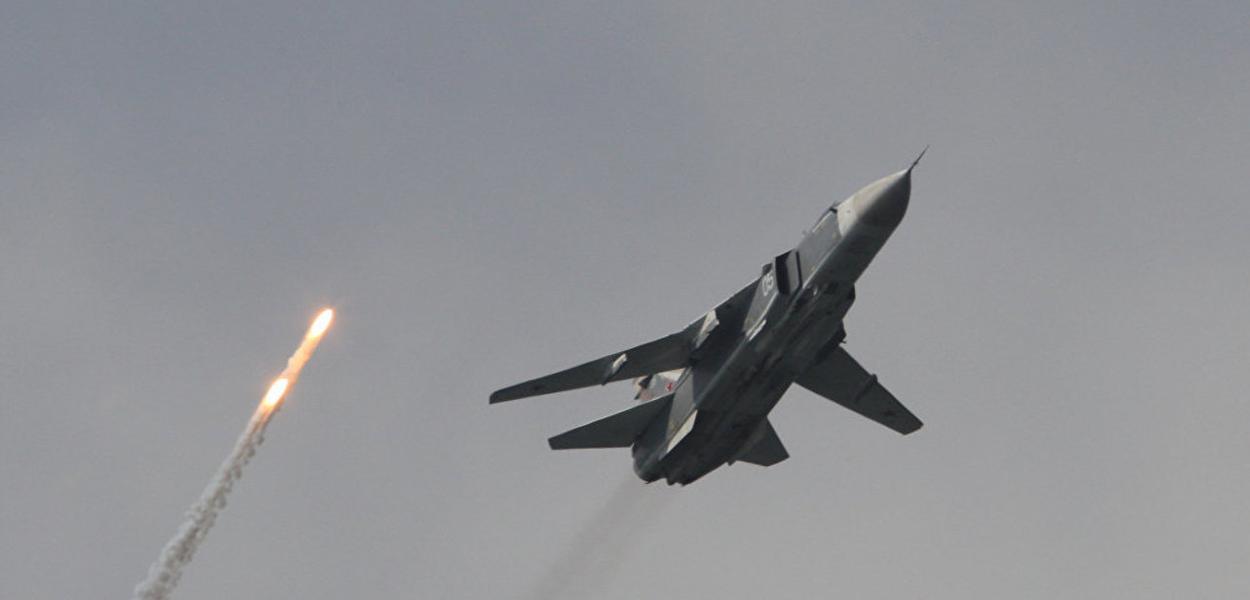 Caça russo em ação na Síria