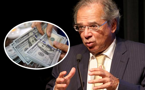 Dólar e o ministro da Economia, Paulo Guedes