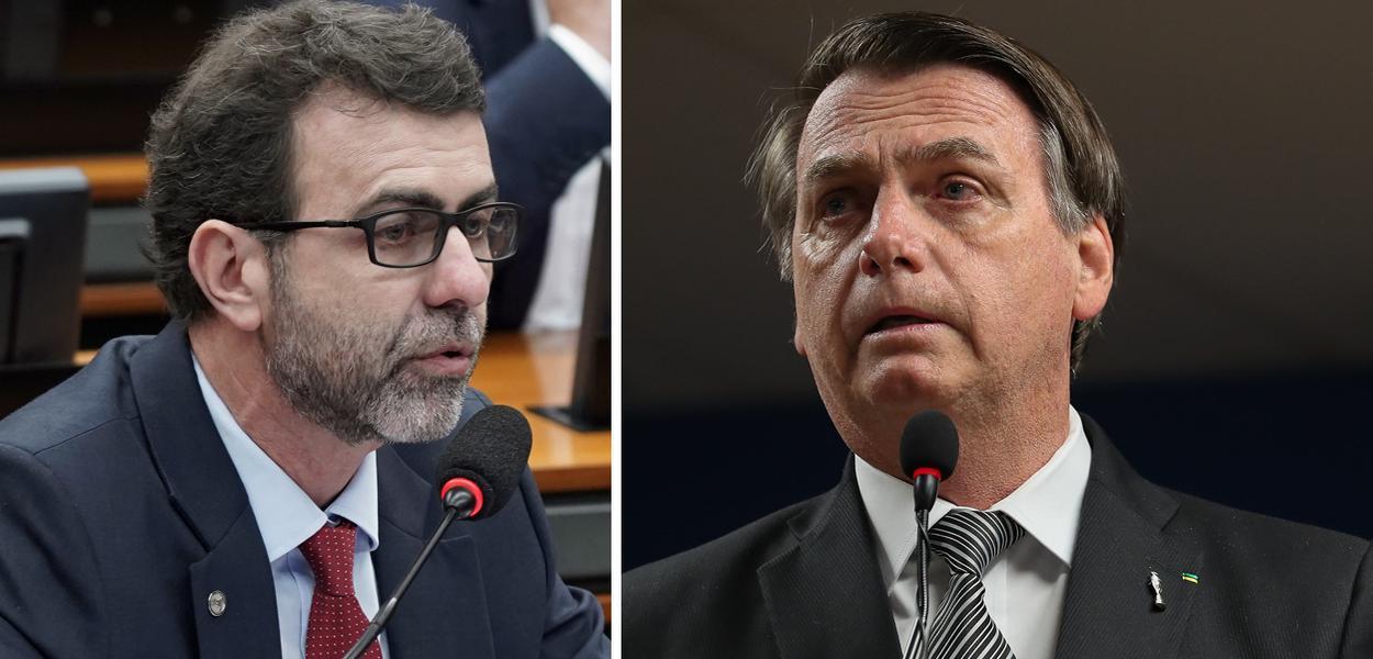 Marcelo Freixo e Jair Bolsonaro