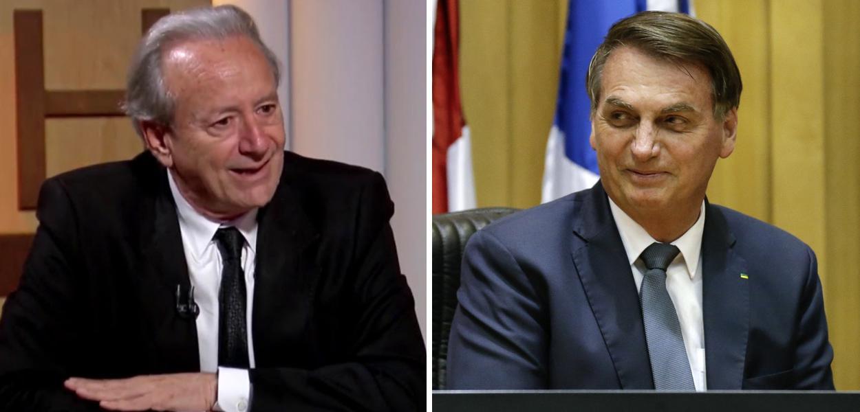 Mario Sergio Conti e Jair Bolsonaro