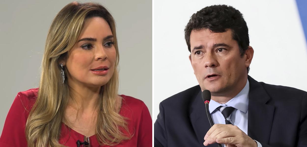 Rachel Sheherazade e Sérgio Moro