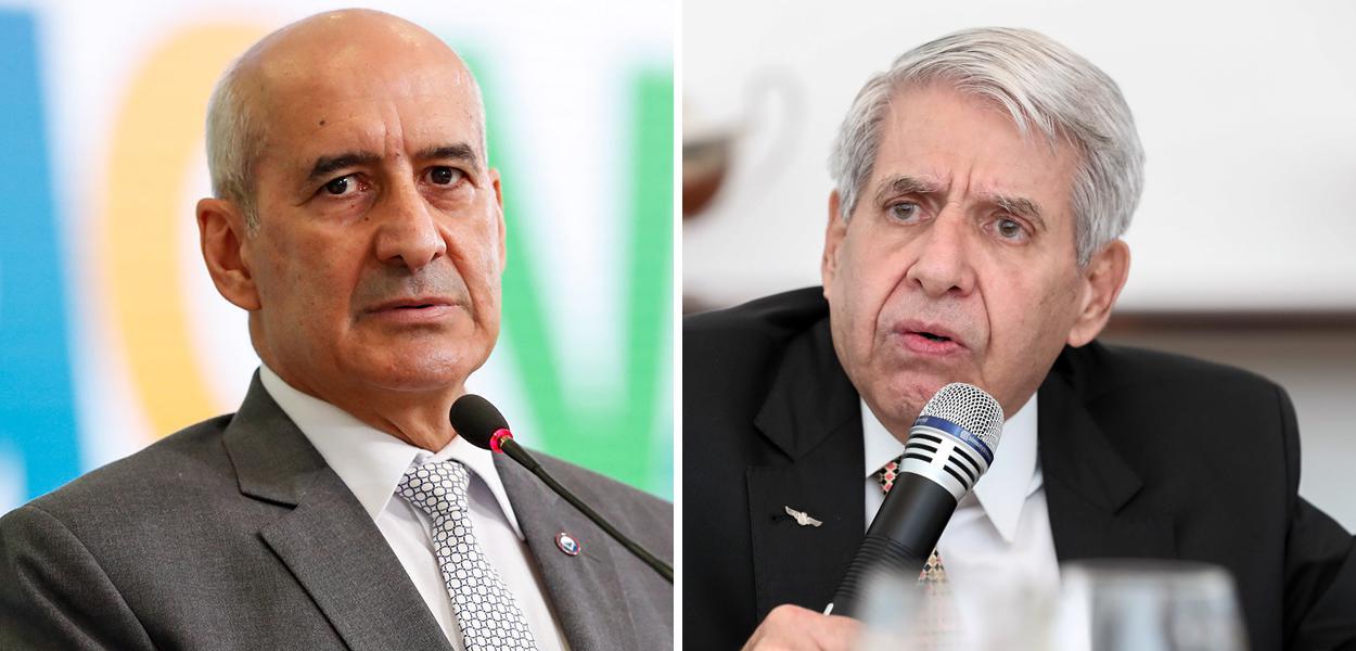 General Luiz Eduardo Ramos e General Augusto Heleno