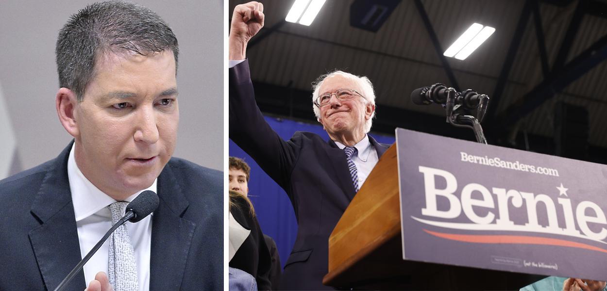 Glenn Greenwald e Bernie Sanders