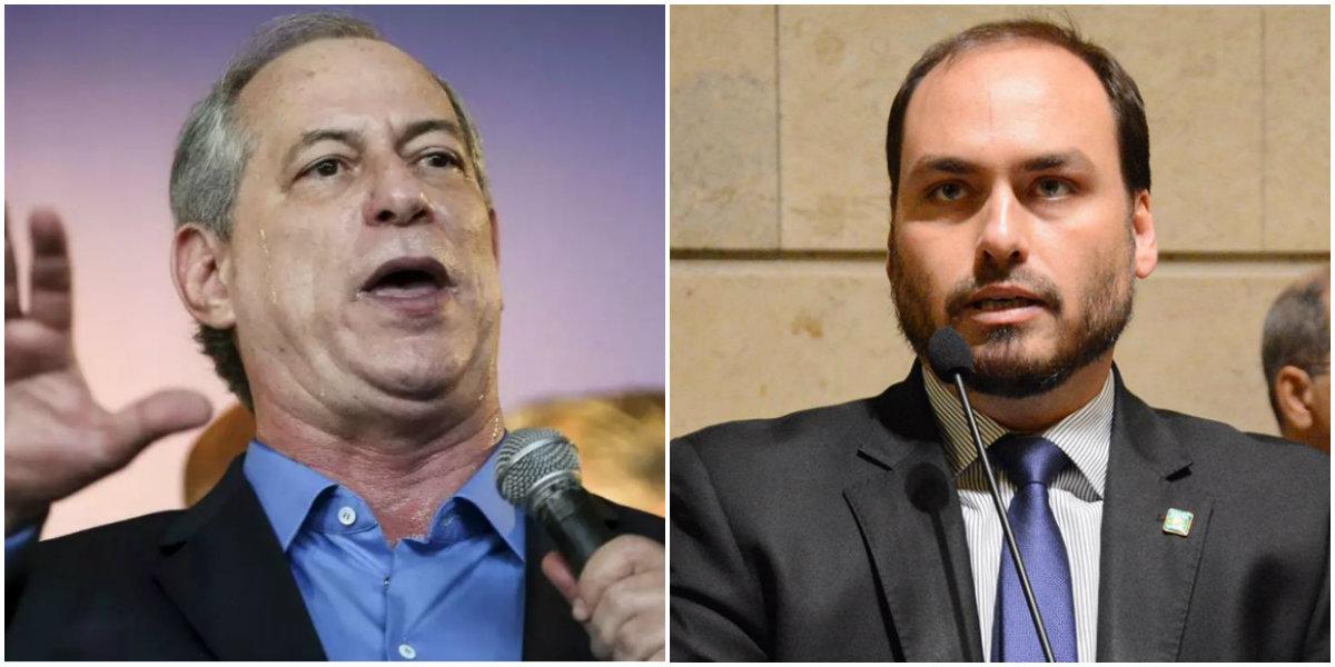Ciro Gomes e Carlos Bolsonaro