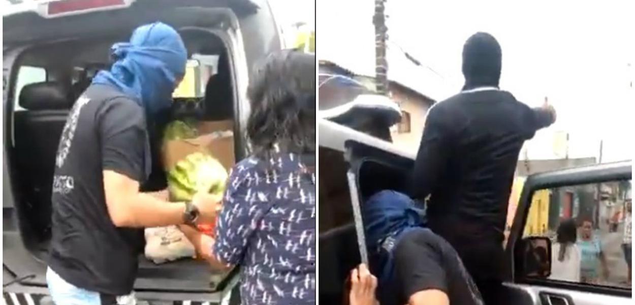 PMs distribuem alimentos à população no Ceará