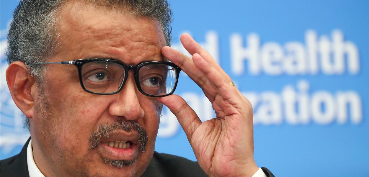 O diretor-geral da OMS, Tedros Adhanom Ghebreyesus, alerta mais prejuízos causados pelo coronavírus