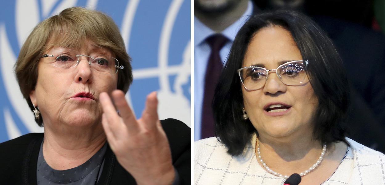 Michelle Bachelet e Damares Alves