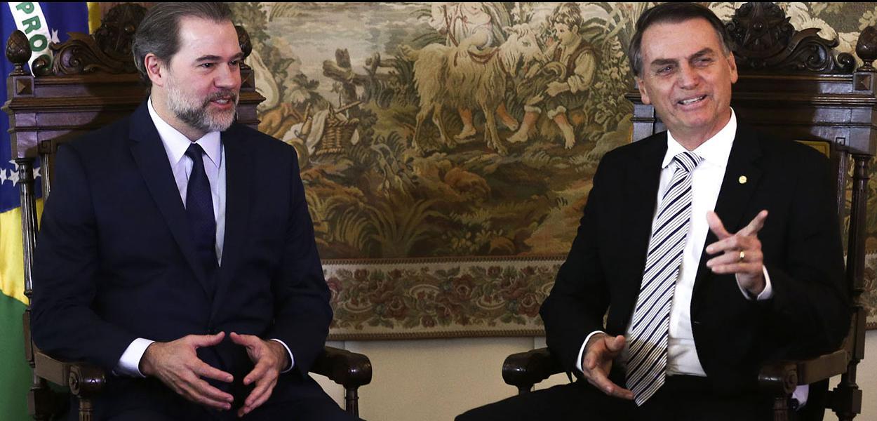 Dias Toffoli e Jair Bolsonaro