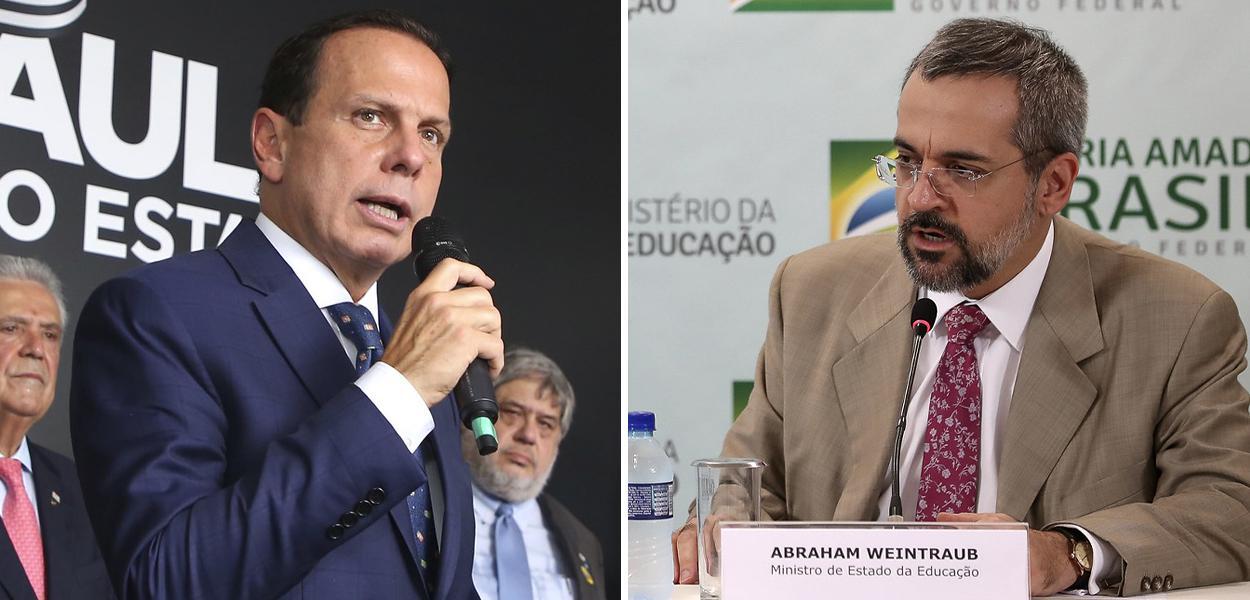 João Doria e Abraham Weintraub