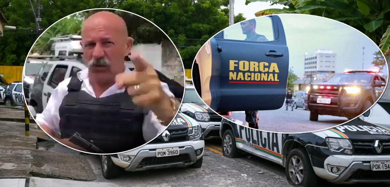 Armado, Inspetor Alberto ameaça governador do Ceará