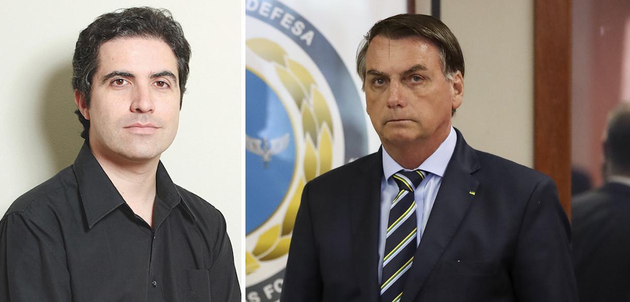 Bernardo Mello Franco e Jair Bolsonaro