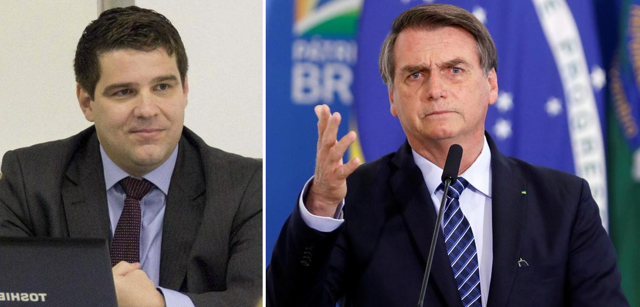 Marcelo Uchôa e Jair Bolsonaro