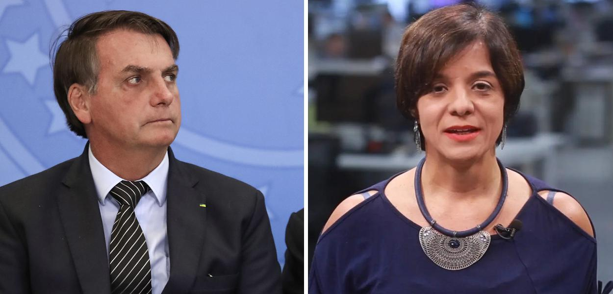 Jair Bolsonaro e Vera Magalhães