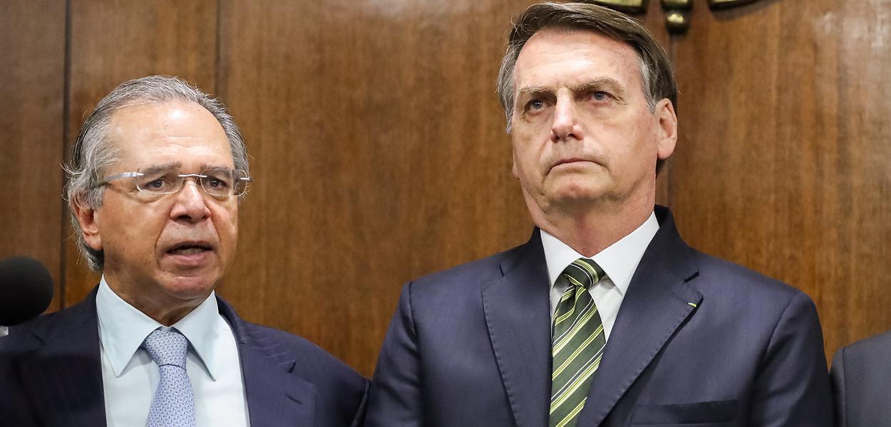 Ministro da Economia, Paulo Guedes e Jair Bolsonaro