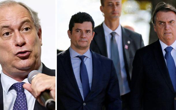 Ciro Gomes; Sérgio Moro e Jair Bolsonaro