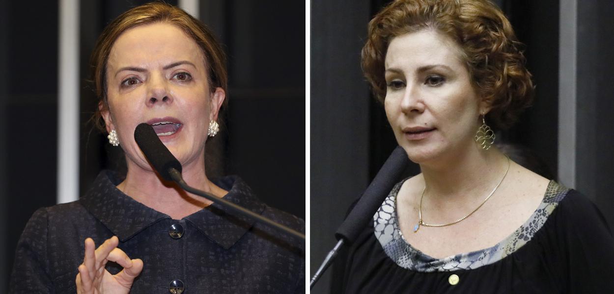 Gleisi Hoffmann e Carla Zambelli