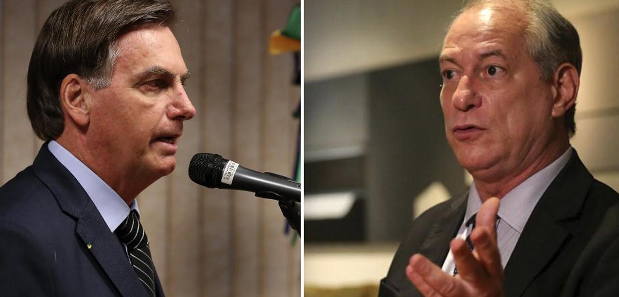 Jair Bolsonaro e Ciro Gomes