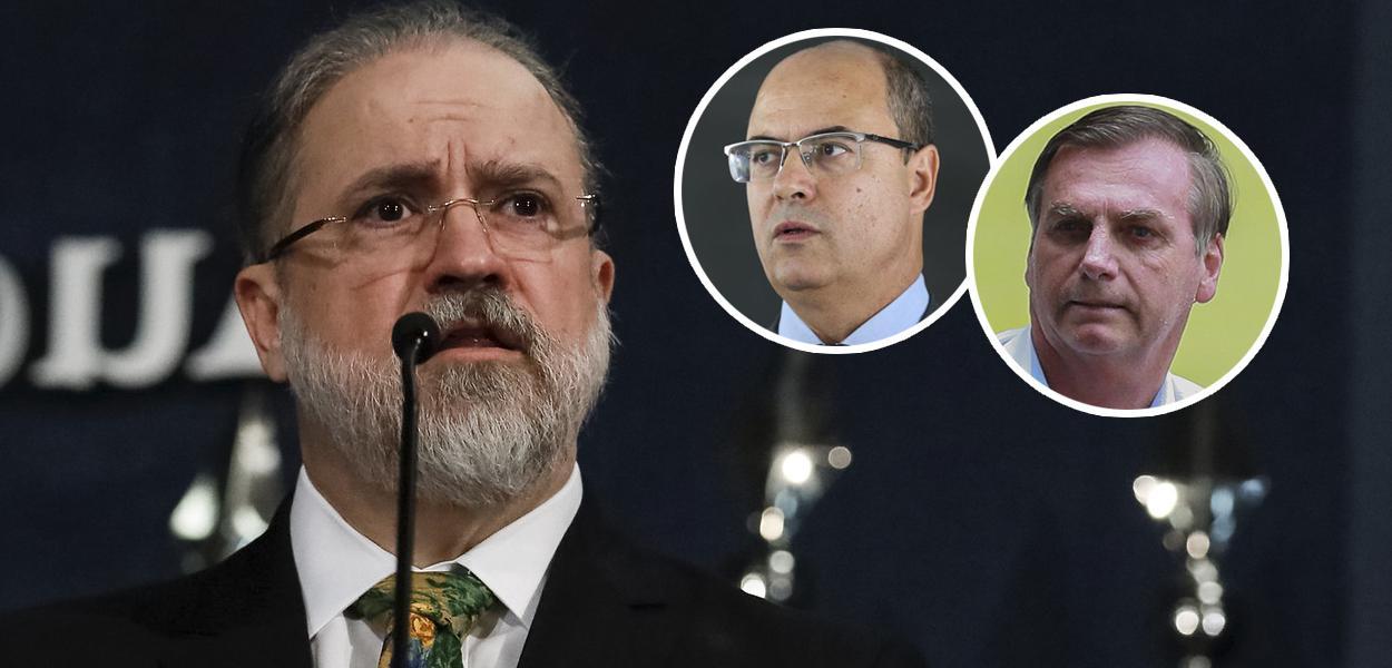 Augusto Aras; Wilson Witzel e Jair Bolsonaro