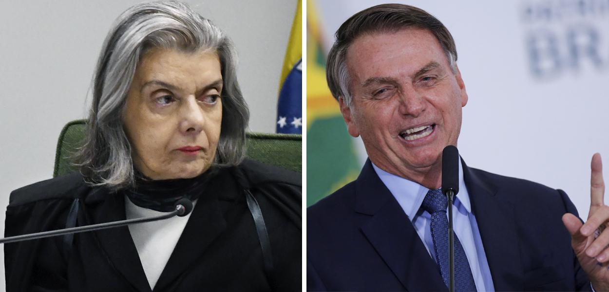 Cármen Lúcia e Jair Bolsonaro