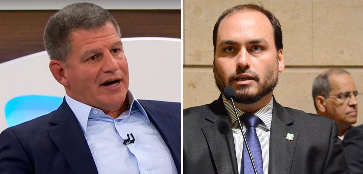 Gustavo Bebianno e Carlos Bolsonaro