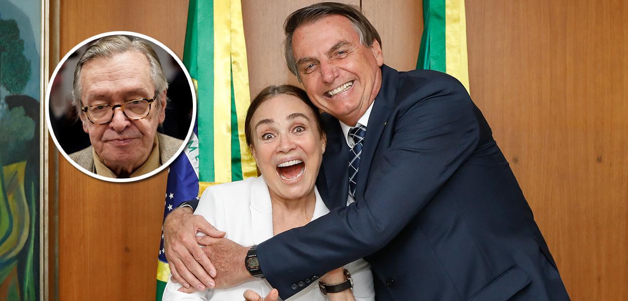 Olavo de Carvlho, Regina Duarte e Jair Bolsonaro