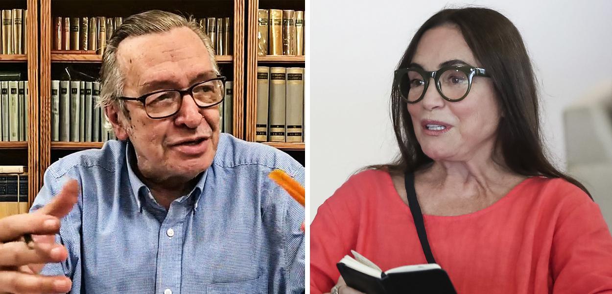 Olavo de Carvalho e Regina Duarte