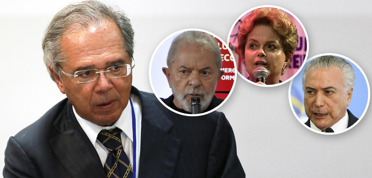 Paulo Guedes, Lula, Dilma Rousseff e Michel Temer