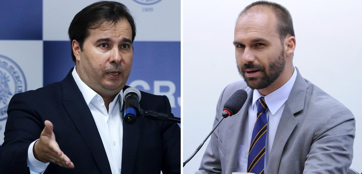 Rodrigo Maia e Eduardo Bolsonaro