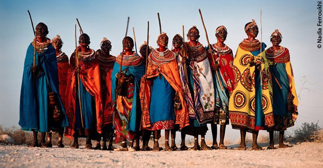 Mulheres samburu, do Quênia
