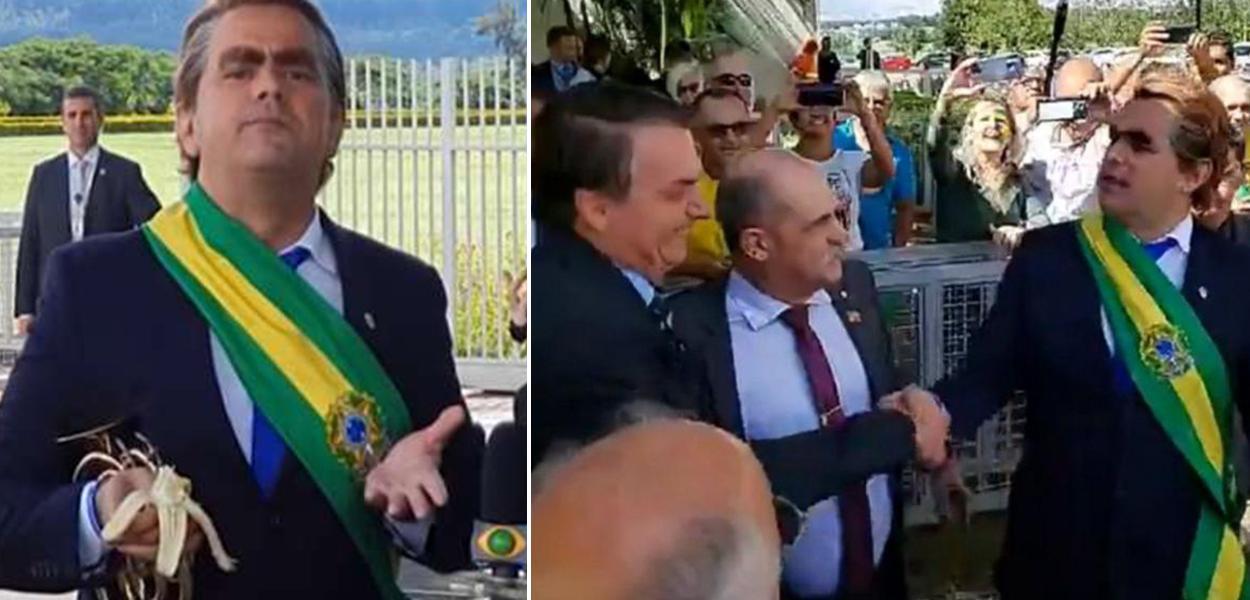Carioca joga bananas para jornalistas em frente ao Alvorada