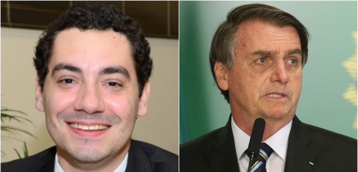 Paulo Brondi e Jair Bolsonaro