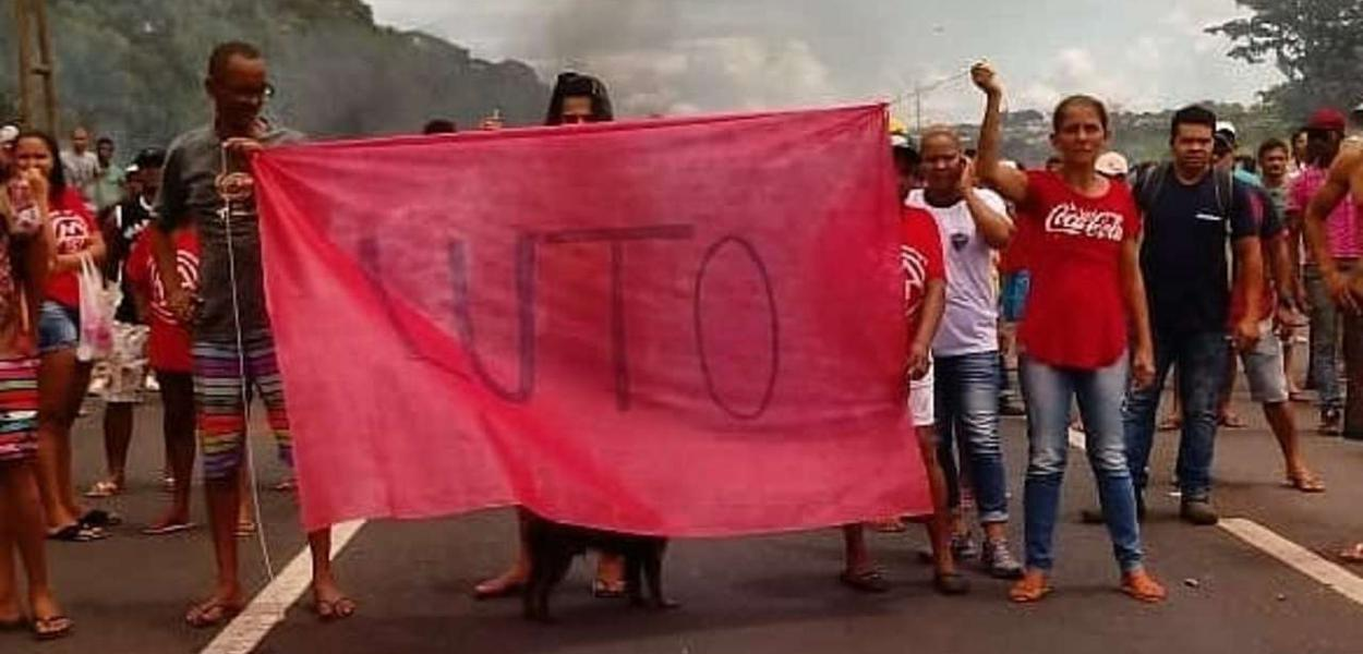 Manifestação de militantes do MTST