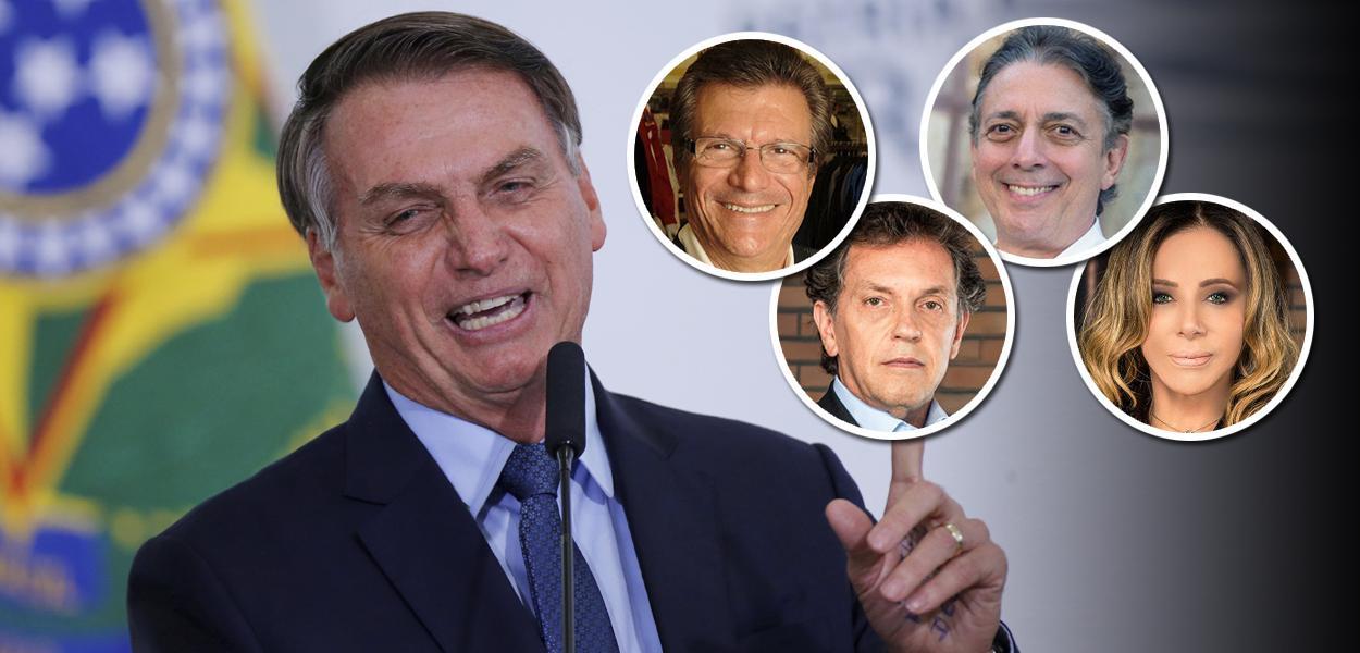 Jair Bolsonaro, Sebastião Bomfim, João Appolinário, Afrânio Barreira e Cris Arcangeli