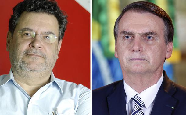 Presidente do PCO, Rui Costa Pimenta, e Jair Bolsonaro
