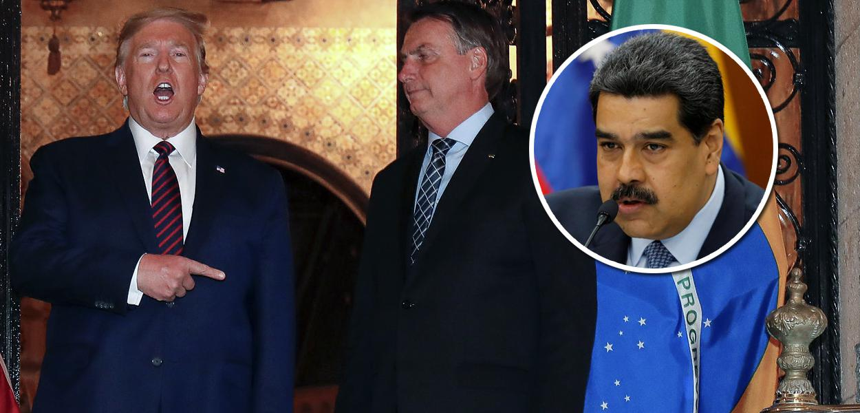Donald Trump, Jair Bolsonaro e Nicolas Maduro