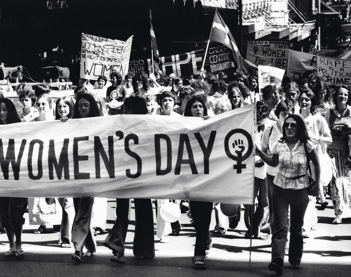 Marcha no dia da mulher