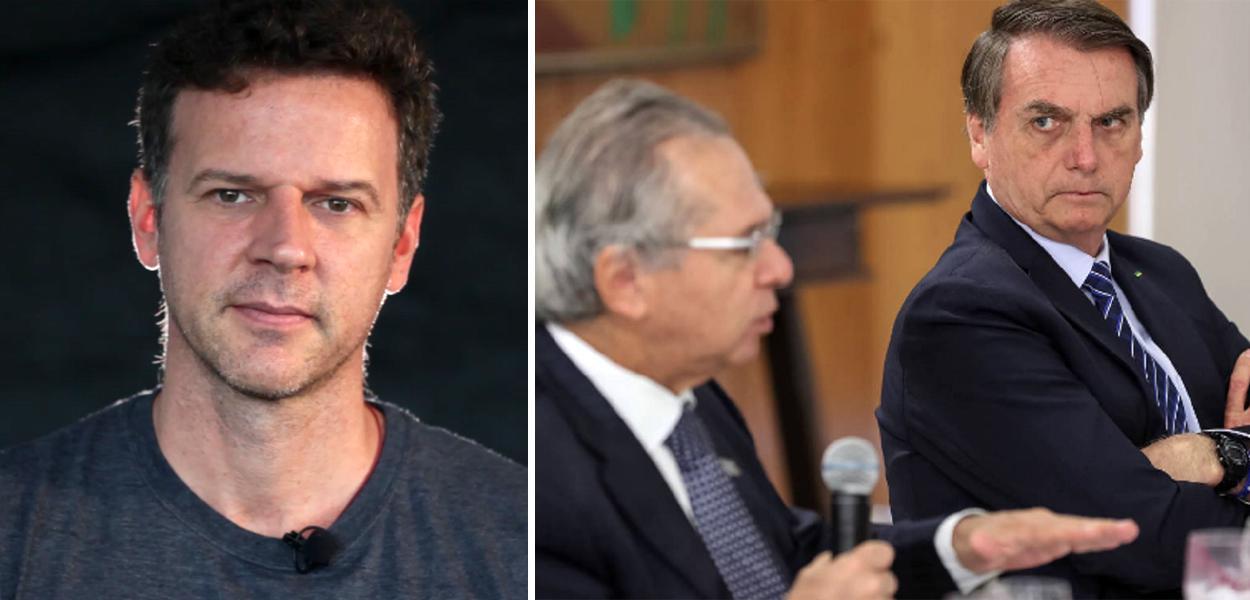 Eduardo Moreira, Paulo Guedes e Jair Bolsonaro
