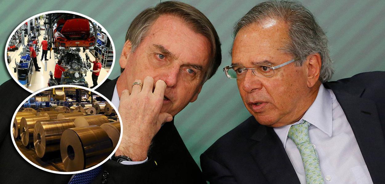 Jair Bolsonaro e seu ministro da Economia, Paulo Guedes