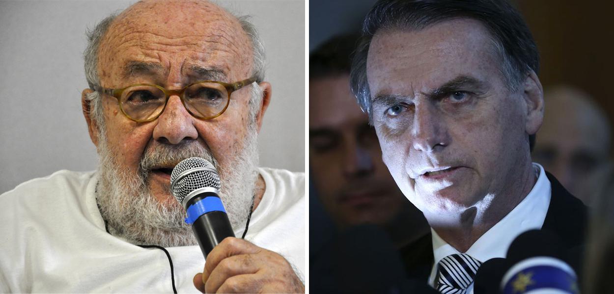 Ricardo Kotscho e Jair Bolsonaro