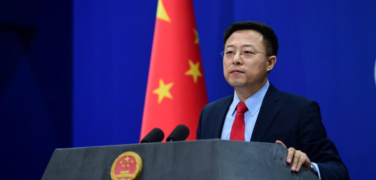 O porta-voz chinês Zhao Lijian