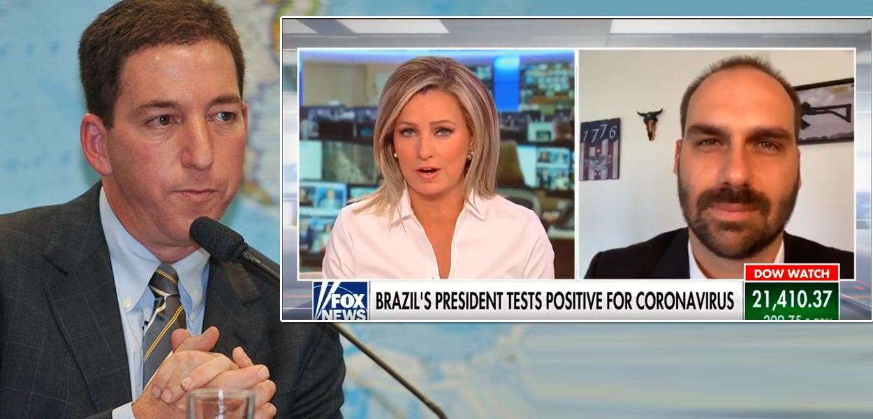 Glenn Greenwald / Eduardo Bolsonaro em entrevista à Fox