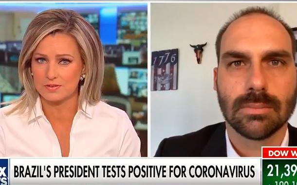 Eduardo Bolsonaro em entrevista à Fox News