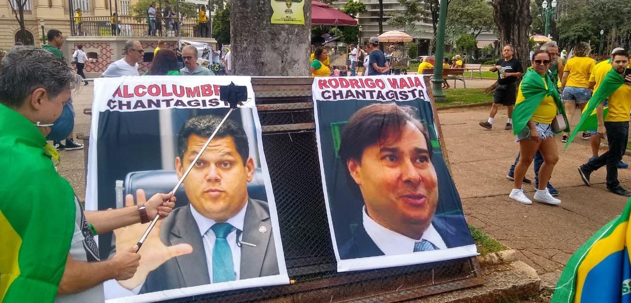 Bolsonaristas protestam contra o Congresso em BH